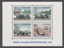 Germany Berlin 9N315 MNH 1971 Avus Race Track Various Racing Cars Souvenir Sheet