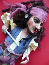 Caribbean Pirate vintage toy marionette puppet folk art import