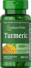 Puritan's Pride TURMERIC - 400 mg 100 Capsules Buy 3 Get 1 For Free