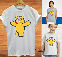Pudsey Bear T Shirt Children In Need Spotty Adult Ladies Kids Spot Tshirt Tee