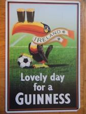VINTAGE RETRO METAL SIGN ADVERTISING PLAQUE IRELAND LOVELY DAY FOR A GUINNESS