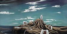 The Silence of Memories  surrealist PAINTING Oil surrealism Erving Del Pilar