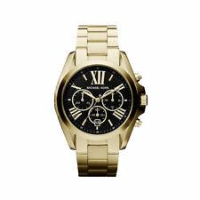 Michael Kors MK5739 Bradshaw Gold Black Dial Chronograph Stainless 43MM NEW