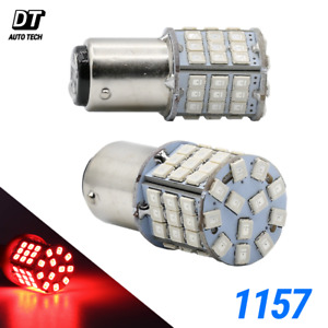 Syneticusa 4X 1157 LED Red High Power Stop Brake Tail Light/Parking Bulbs