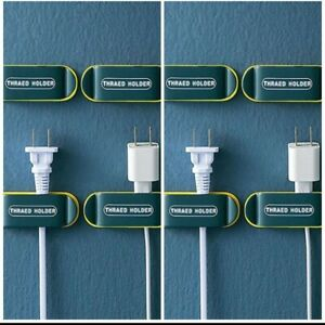 (2) 4 Pack Plug Holder & Cable Clips, KRGMNHR Self Adhesive Plug Cord Management