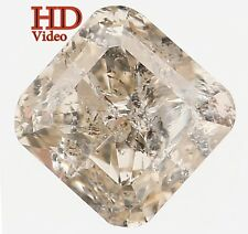 Natural Loose Diamond Yellow Grey Color Radiant SI2 Clarity 4.50MM 0.50 Ct KR113