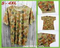 Auscam Military Army T-Shirt Short Sleeve Bdu Tactical Style Cotton Clothing NEW