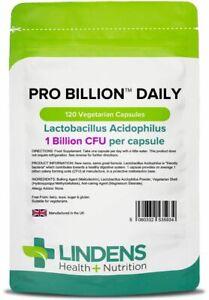 PROBIOTIC Daily 1 BILLION CFU (120) Capsules Lactobacillus Acidophilus Lindens