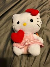 Ty Beanie Baby Hello Kitty With Heart And Pink Polka Dot Dress Rare