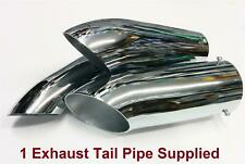 Sports Road 38mm-57mm Chrome Plated Steel Curved Ended Exhaust Tail Pipe Car Van