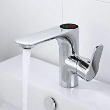 Bathroom Faucet Temperature Sensitive Sink Taps Deck Mount Hot Cold Mixer Intell
