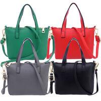 Women Handbag Faux Leather Shoulder Bag Satchel Messenger Purse Tote Bags Simple