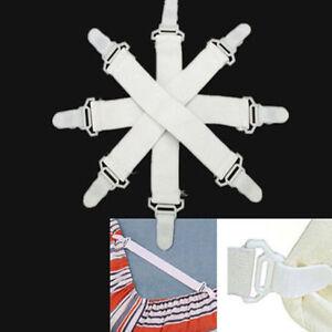 4pcs Fitted Bed Sheet Holder Sheet Grip Mattress Cover Gripper Clip Fastener