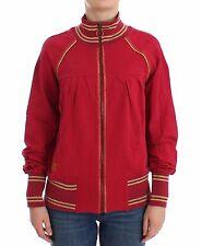 NWT $350 JOHN GALLIANO Pink Mock Zip Cardigan Jacket Sweatshirt Sweater XXS/US 2