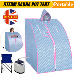 2L Steam Sauna Spa Tent Full Body Loss Weight Detox Therapy Home Room Steamer UK