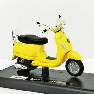 MAISTO 1:18 Vespa LXV del 2013 Yellow MOTORCYCLE BIKE DIECAST MODEL NEW IN BOX