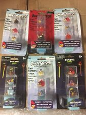 Angry Birds Tiny Toppers, LOT Of 6 Sets To Build Your Own Course To Break Down.