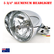 """5 3/4"""" H4 Billet Headlight Chrome HARLEY Chopper Bobber Springer Softail Dyna XL"""