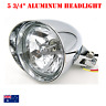 "5 3/4"" H4 Billet Headlight Chrome HARLEY Chopper Bobber Springer Softail Dyna XL"