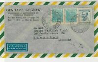Brasil 1952 Gerhart Gegner Importer Airmail to Munich  Stamps Cover Ref 29029