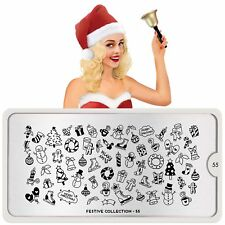 MoYou London FESTIVE 55 Collection Stamping Schablone Schneemann Weihnachten