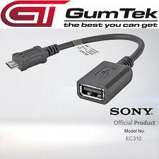 Original Genuino Sony EC310 Micro USB a USB Adaptador OTG cable para Xperia Z Z1