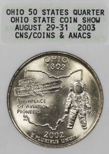 2002 25C ANACS Ohio State Coin Show CNS August 2003 Collectible Holder