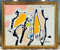 """Sublime Huile sur toile abstraite """"Composition"""" signée Daniel PAUGAM  69x58 cm"""