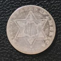 1858 Three Cent Piece Silver Trime 3c circulated mid grade #6919