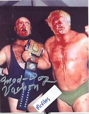"Maurice ""Mad Dog"" Vachon AWA Autographed Signed 8x10 Photo COA #7 DECEASED"