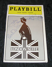 Playbill LONDON SUITE signed by Jeffrey Jones, Carole Shelley, Paxton Whitehead