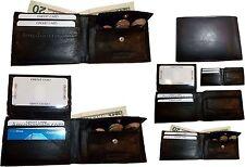 6 New Men's bi-fold Leather Wallet 7 credit card ID Change purse 2 billfold BN