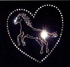 HORSES HEAD Crystal transfer Iron On Rhinestone Diamante t shirt MOTIF DESIGN