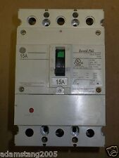 GE FBV FBV36TE015RV 3 POLE 15 AMP 600V CIRCUIT BREAKER USED