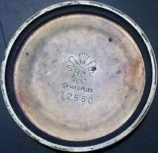 VINTAGE ROLEX CALIBER 1520-1530 14k GOLD FILLED CASE BACK FOR PARTS OR REPAIR