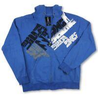 Billabong Mens Blue Surfer LS Hoodie Graphic Full Zip Sweatshirt Size X-Large