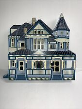Shelia's Collectible Wooden Houses Ray Home Gallatin Missouri 1995-Free Shipping