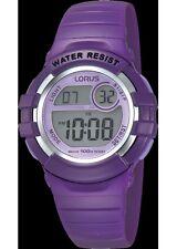 Lorus Kids Digital Purple Strap Watch R2385HX9
