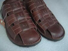 Size 10 Men's Tansmith Leather Sandals Brown New w/Tags