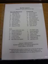 28/01/2014 Teamsheet: Wycombe Wanderers v Portsmouth  . Thanks for viewing our i