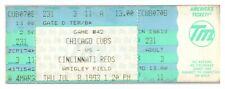 1993 Chicago Cubs Cincinnati Reds 7/8 Ticket Rick Wilkins HR *ST1G