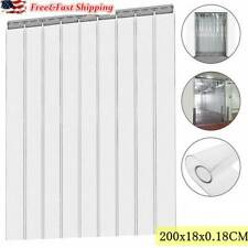 3Pcs Cool Room PVC Plastic Door Strips Curtain 2000x180mm Strip Kit Hanging Rail