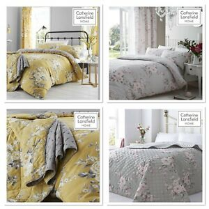Catherine Lansfield Canterbury Easy Care Ochre & Grey Or Pink & Grey Duvet Set
