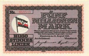 Hamburg  -  Hugo Stinnes Linien  -  5 Millionen Mark  (3865)
