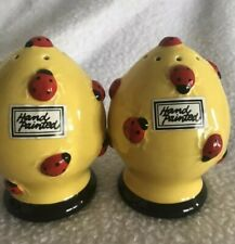 Department 56 hand painted salt and pepper shakers Lady bugs