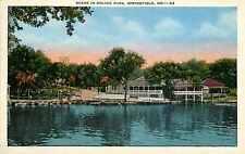 Linen Postcard Scene in Doling Park Springfield Missouri MO