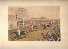 "1927 Art Print Liverpool Grand Steeple Race ""Coming In""  by Charles Hunt"