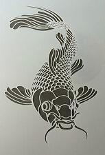 The Koi Fish Mylar Reusable Stencil Airbrush Painting Art Craft DIY Home Decor