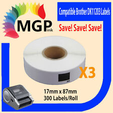 3 Compatible for Brother DK11203 Refill only Label 17mm x 87mm QL500/550 QL700