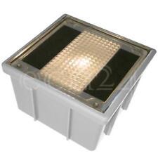 Solar Pflasterstein Solarstein Solarstrahler trittfest 10x10cm warmweisse LED
